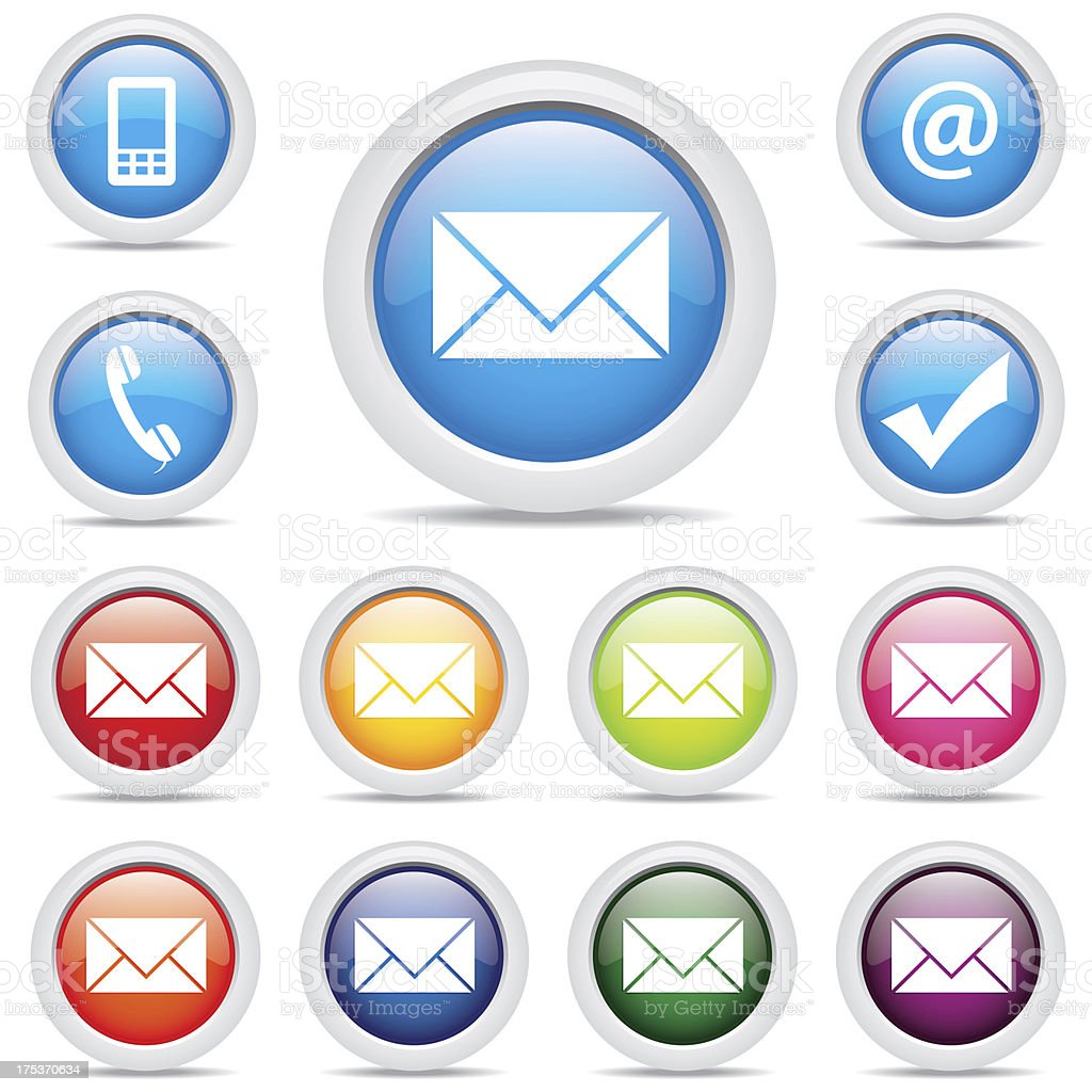icon pack mail set symbol vector royalty-free stock vector art