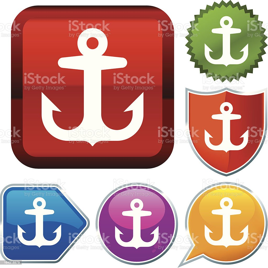 icon series: anchor royalty-free stock vector art