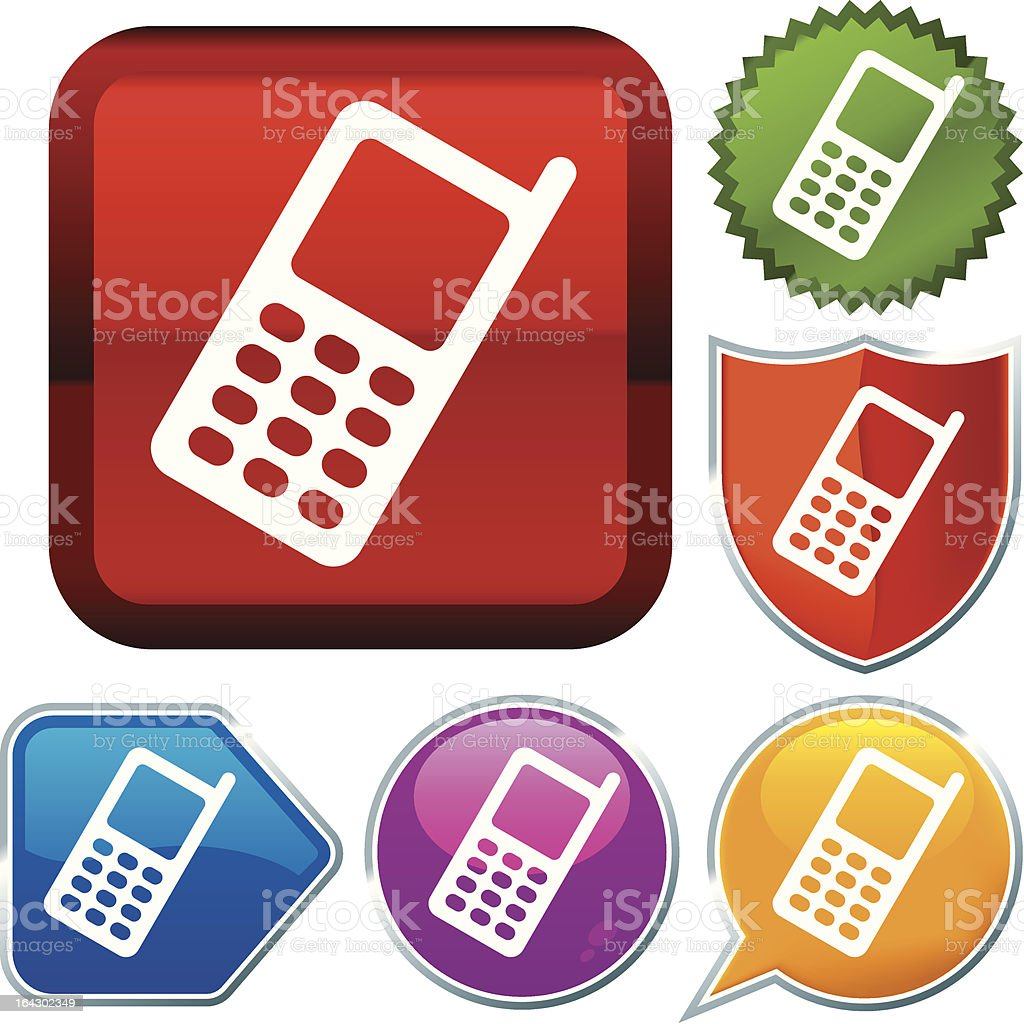 icon series: cellphone royalty-free stock vector art