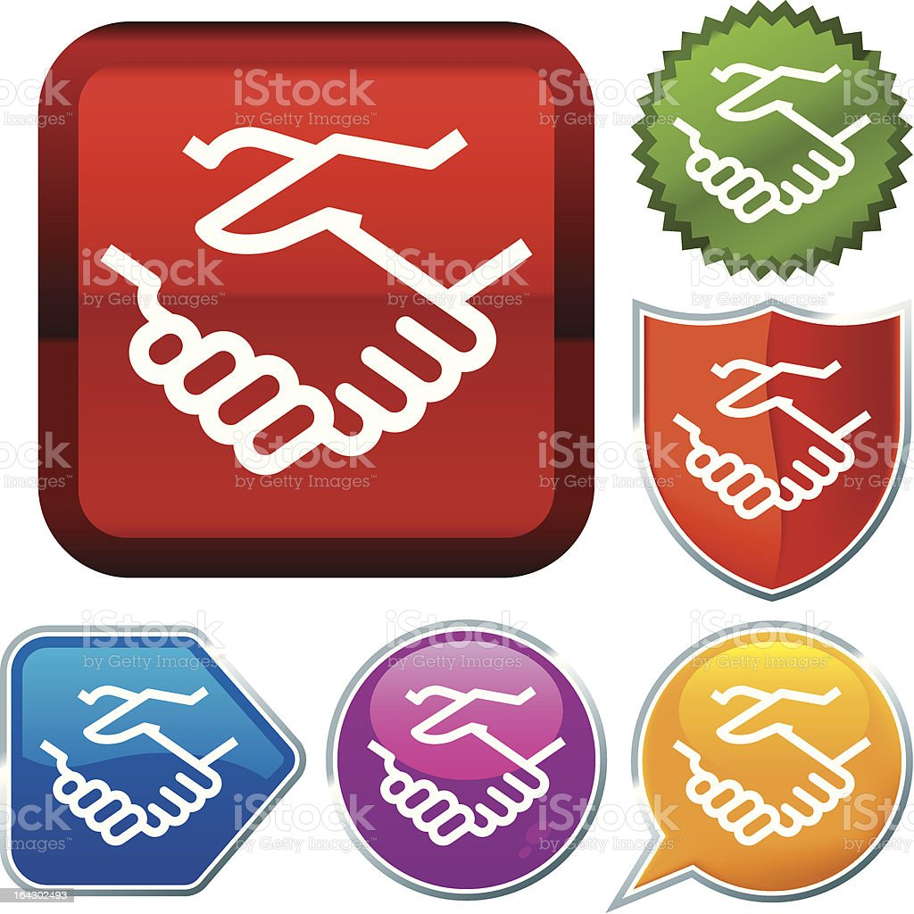 icon series: handshake royalty-free stock vector art
