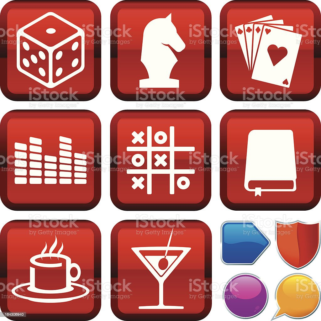 icon series: indoor leisure royalty-free stock vector art
