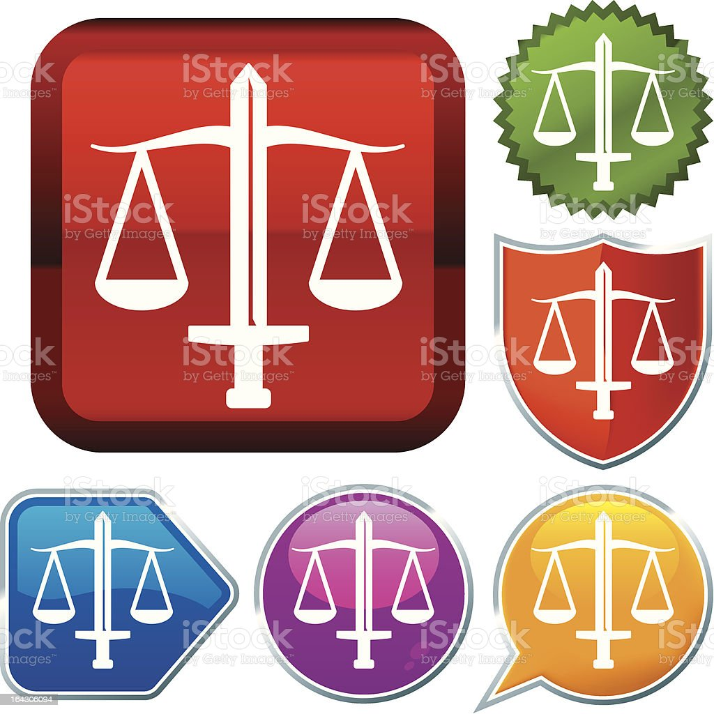 icon series: justice royalty-free stock vector art