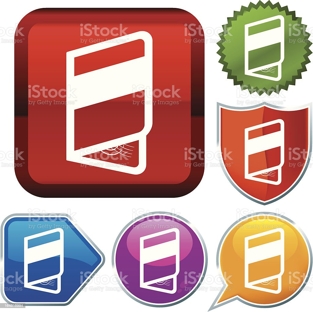 icon series: passport royalty-free stock vector art