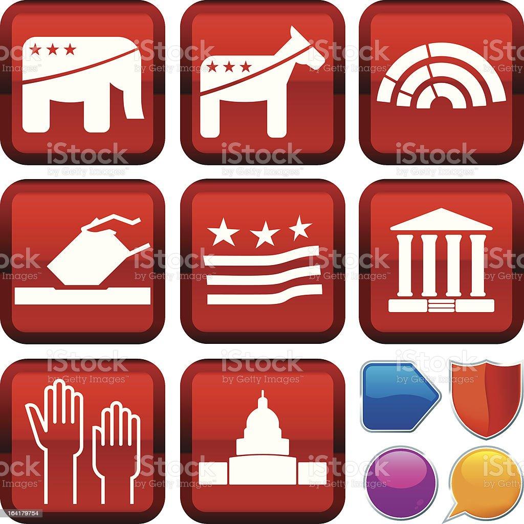 icon series: politics royalty-free stock vector art