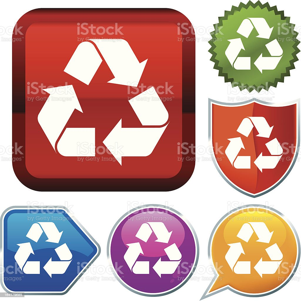icon series: recycle (vector) royalty-free stock vector art