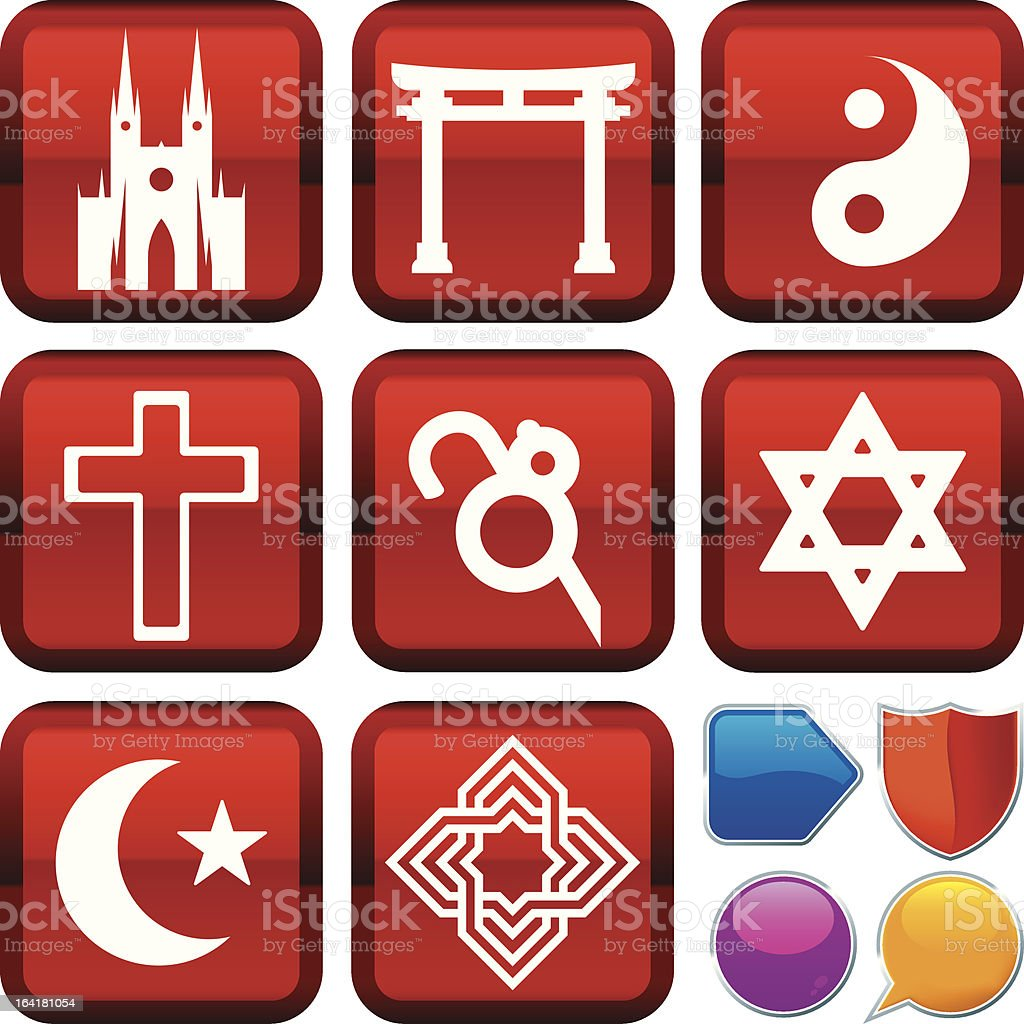 icon series: religion royalty-free stock vector art