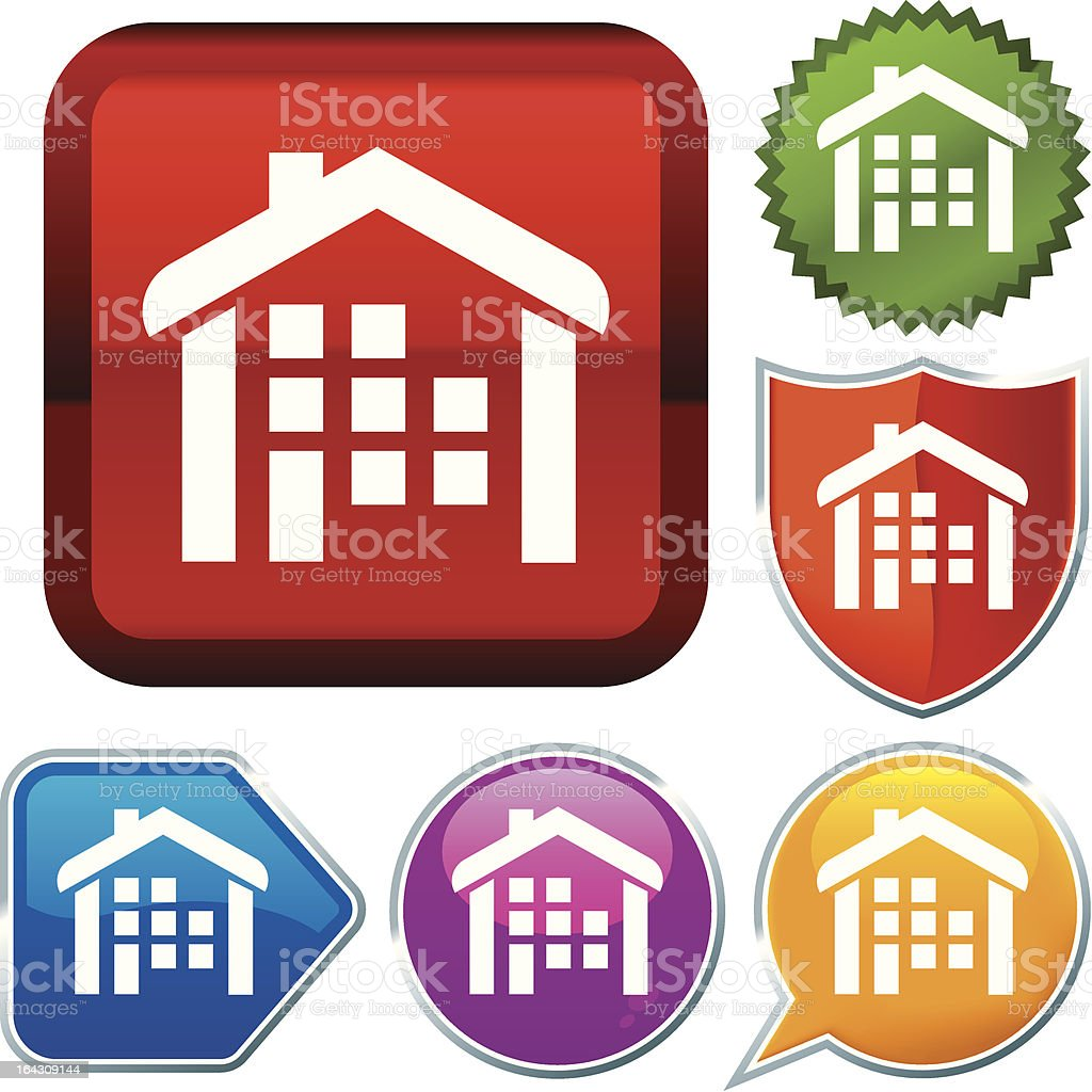 icon series: residential royalty-free stock vector art