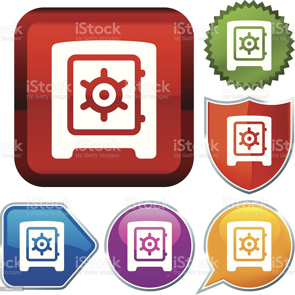 icon series: safe box royalty-free stock vector art
