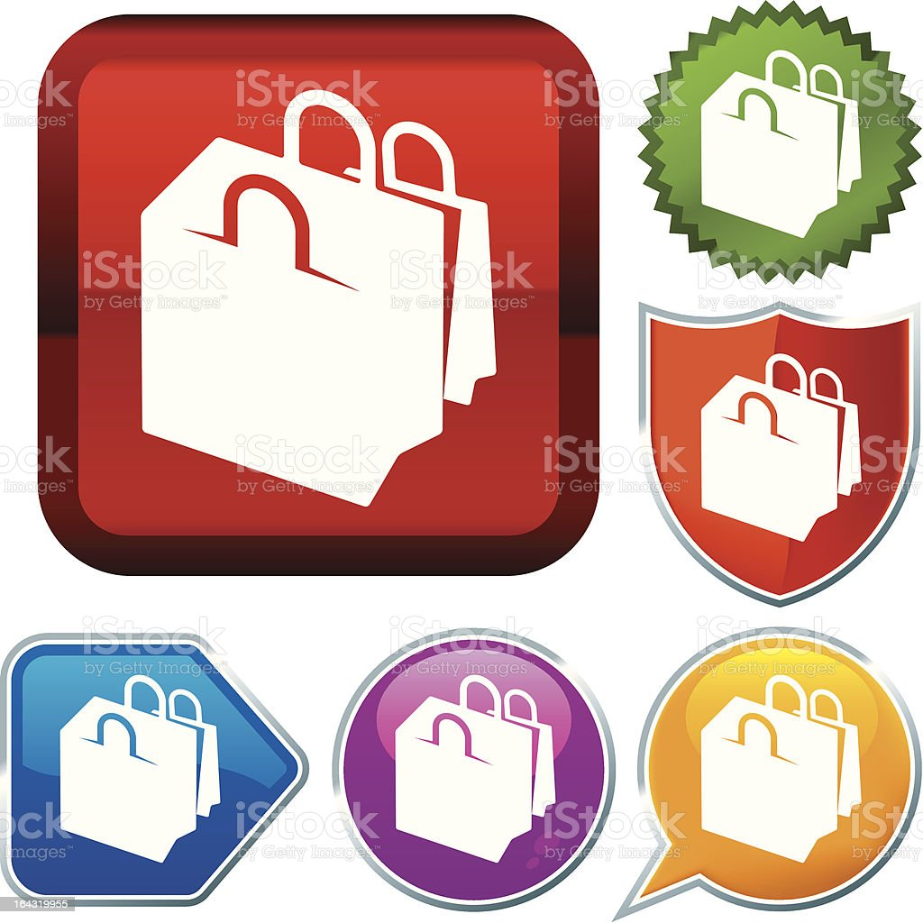 icon series: shopping bags royalty-free stock vector art