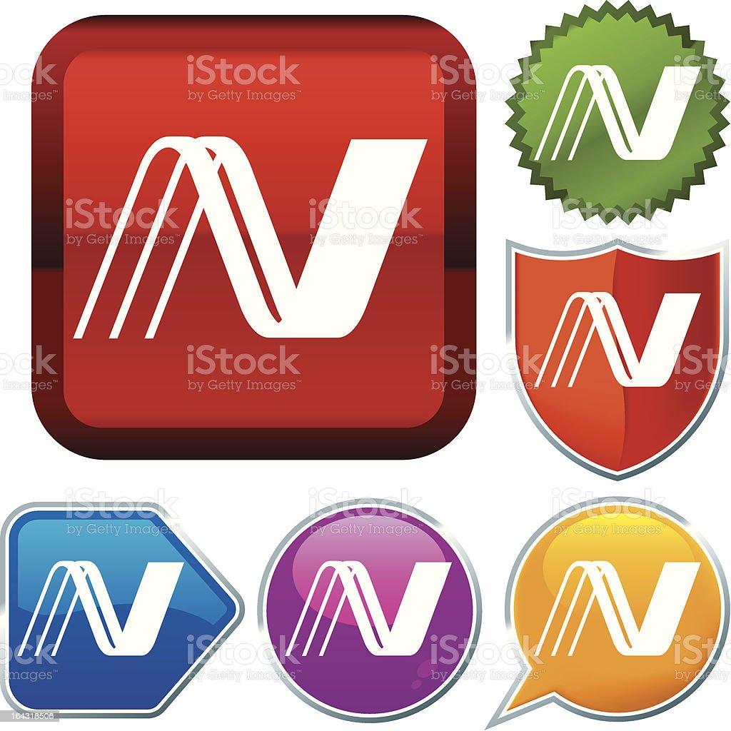 icon series: union royalty-free stock vector art