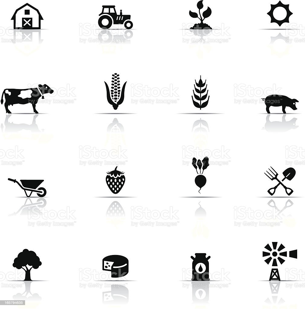 Icon Set, Farm vector art illustration