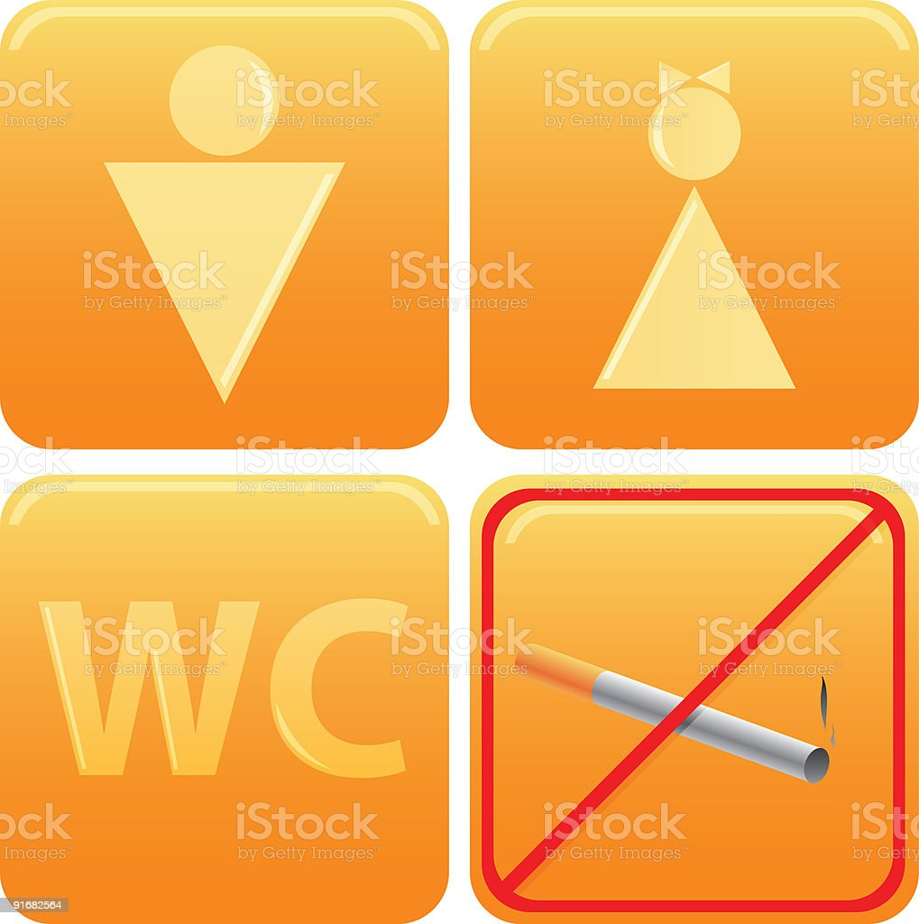 WC icon set royalty-free stock vector art