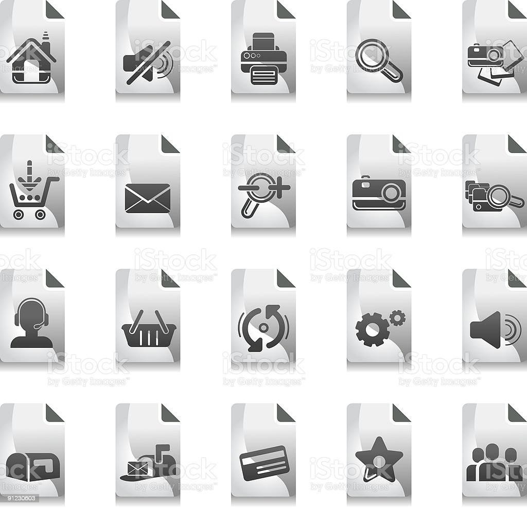 Icon set - Internet related icons royalty-free stock vector art