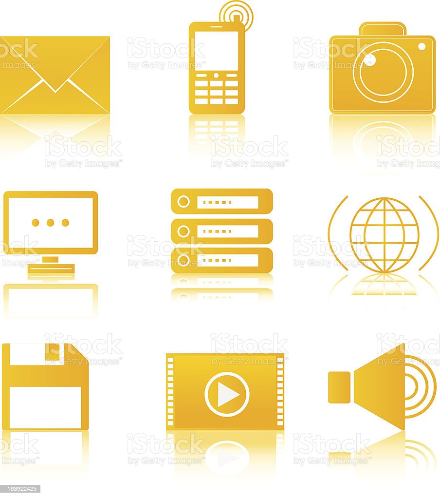 Icon set Media royalty-free stock vector art