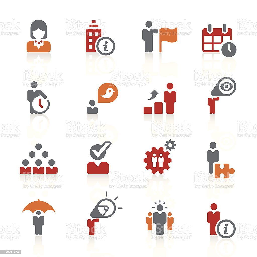 Icon set related to business and human resources royalty-free stock vector art