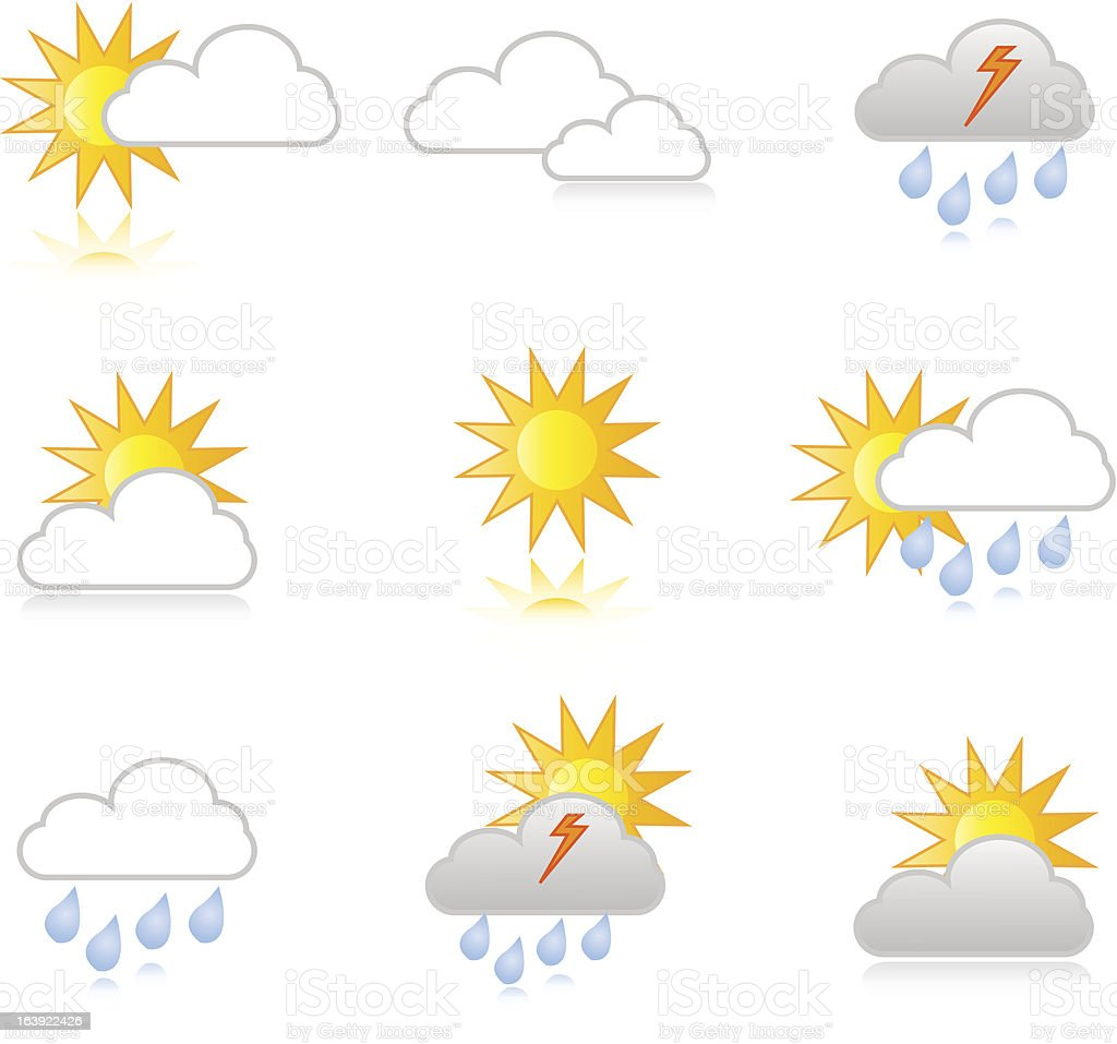 Icon set weather royalty-free stock vector art