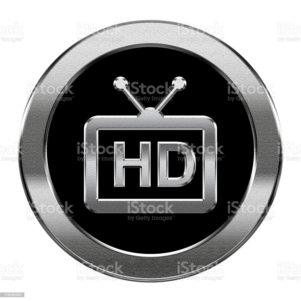 HD icon silver, isolated on white background. royalty-free stock vector art