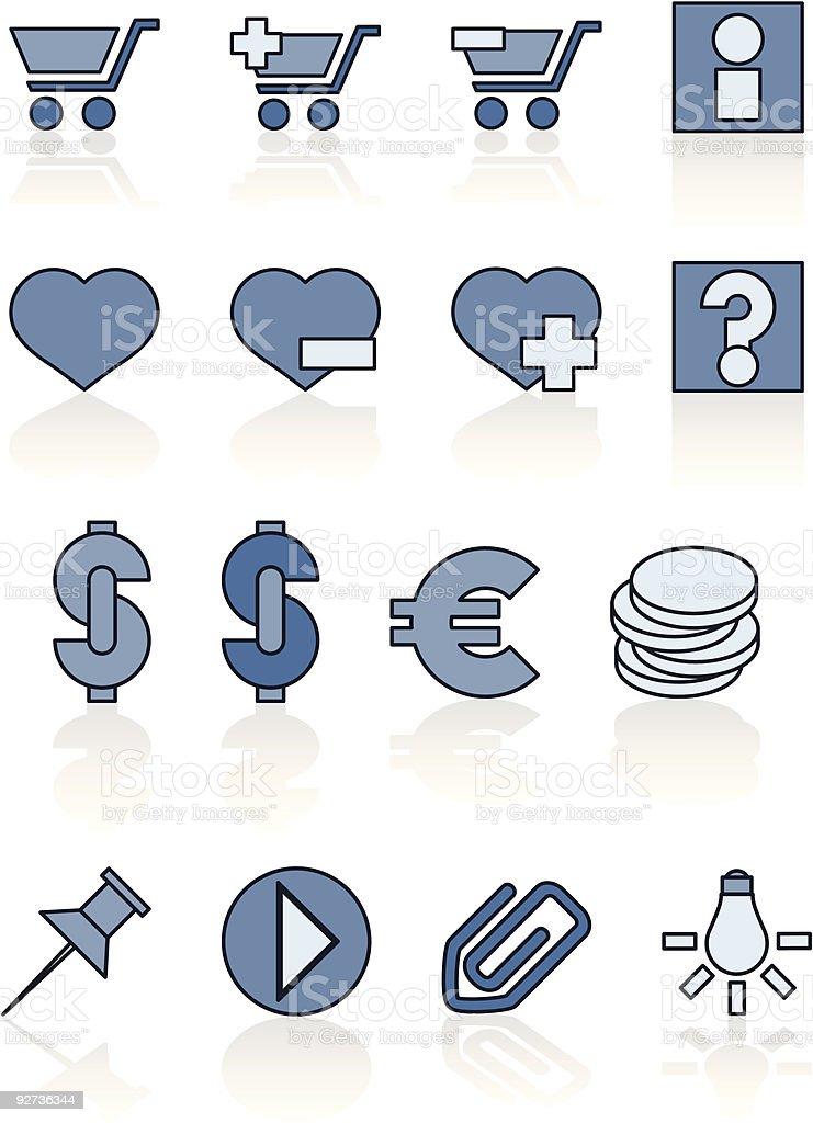 Icons - e-shop royalty-free stock vector art
