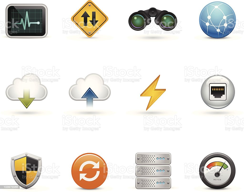 Icons for a website vector art illustration