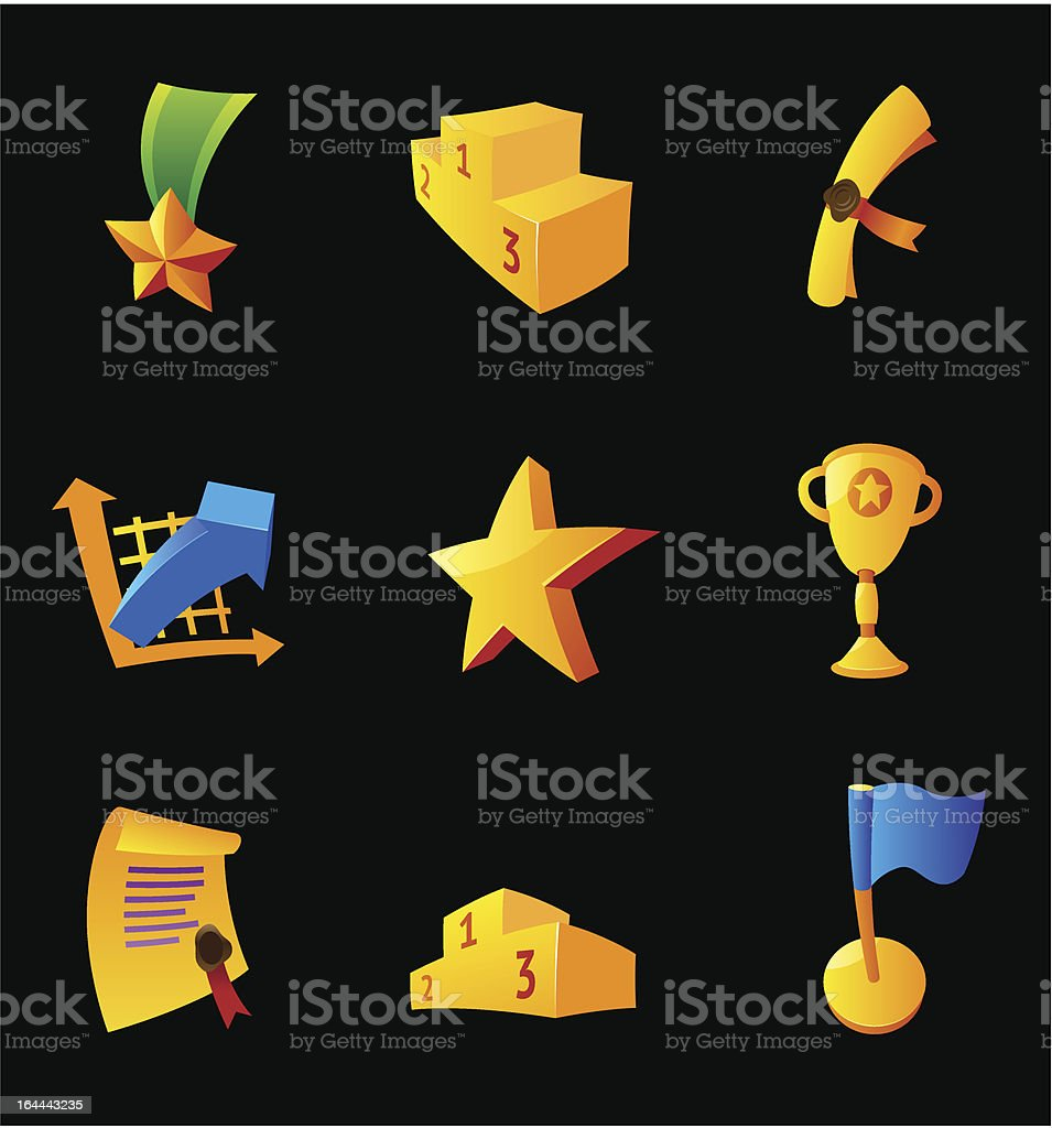 Icons for awards royalty-free stock vector art