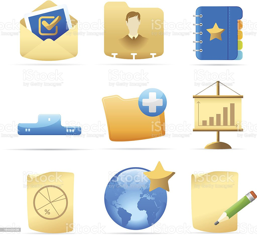 Icons for business metaphor royalty-free stock vector art
