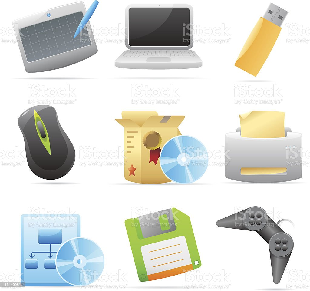 Icons for computer royalty-free stock vector art