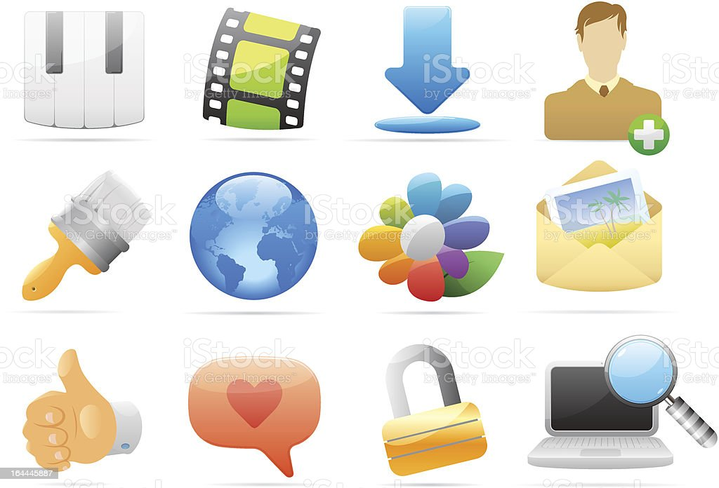 Icons for interface royalty-free stock vector art