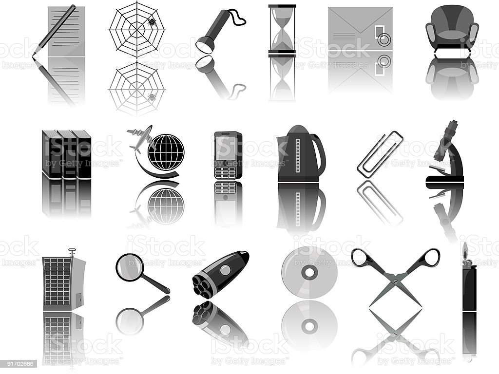 Icons for web royalty-free stock vector art