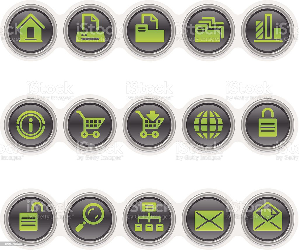 Icons for website royalty-free stock vector art