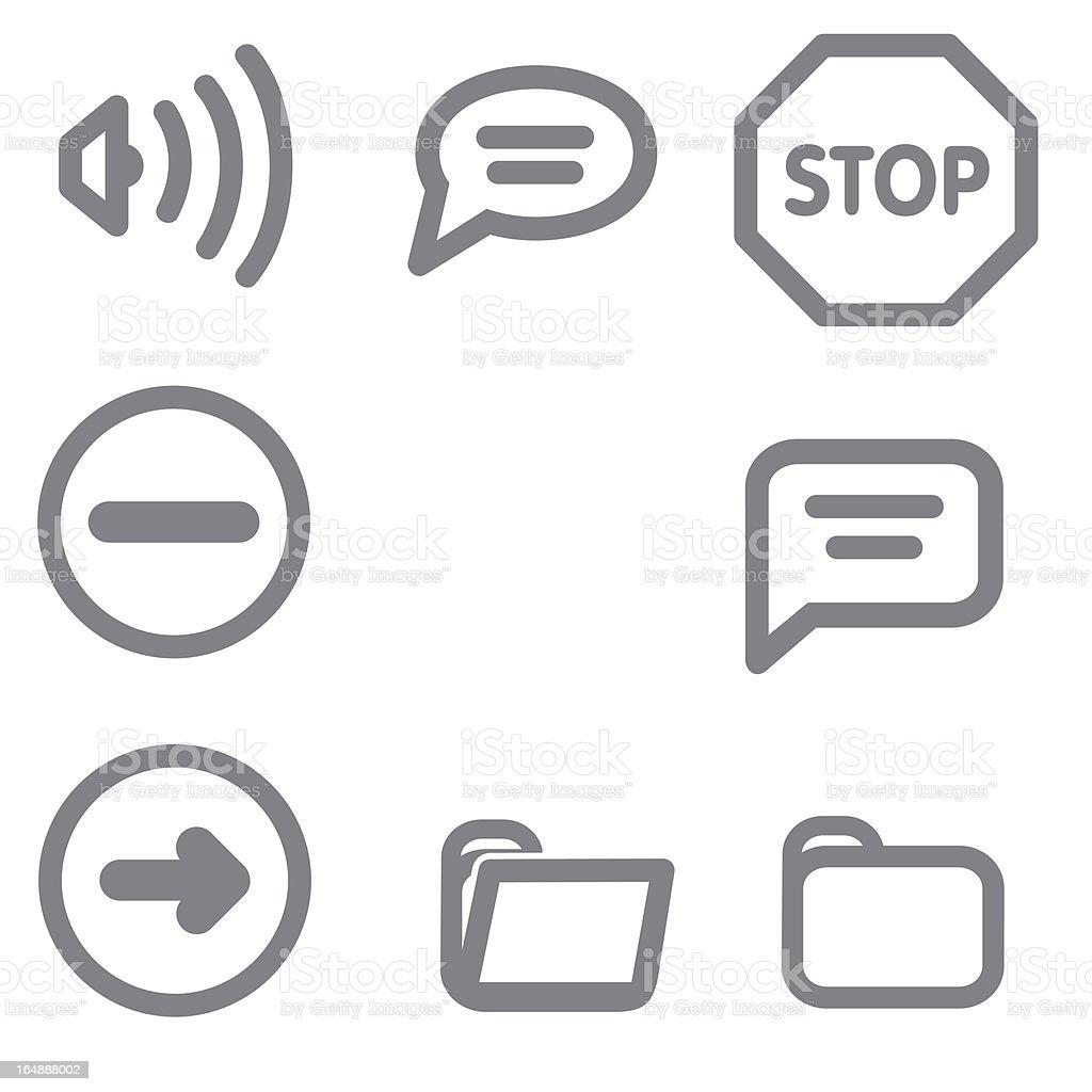 Icons Set Series royalty-free stock vector art