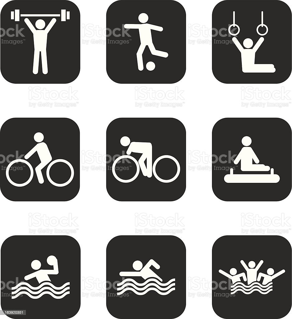Icons Sport royalty-free stock vector art