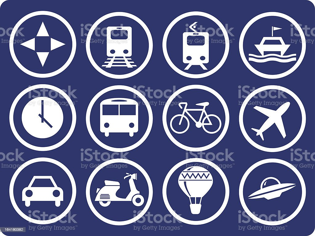 Icons - transportation royalty-free stock vector art