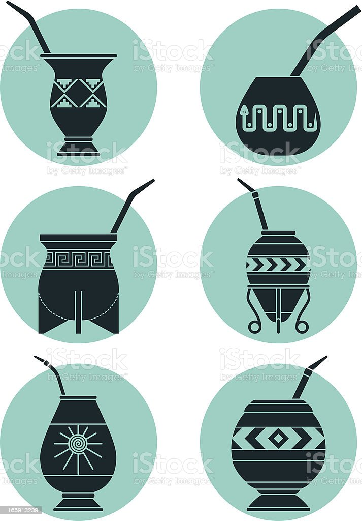 Icons with Calabashes royalty-free stock vector art