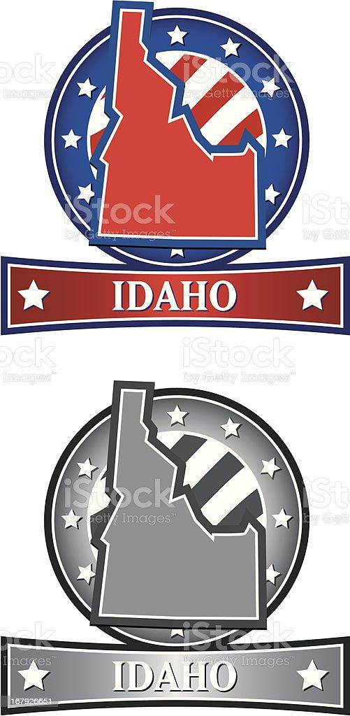 Idaho Crest vector art illustration