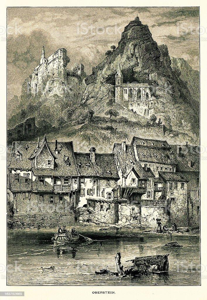 Idar-Oberstein, Germany I Antique European Illustrations royalty-free stock vector art