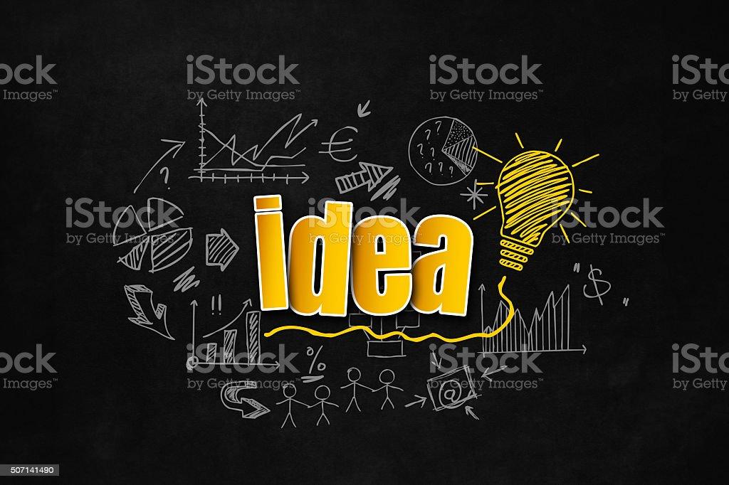 Idea concept for business vector art illustration