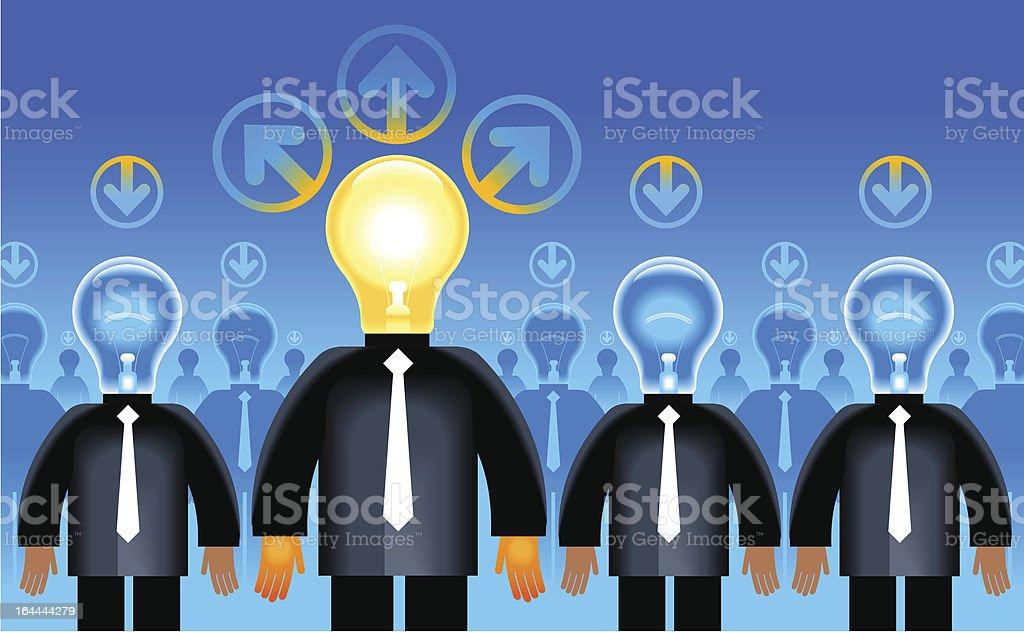 idea people royalty-free stock vector art