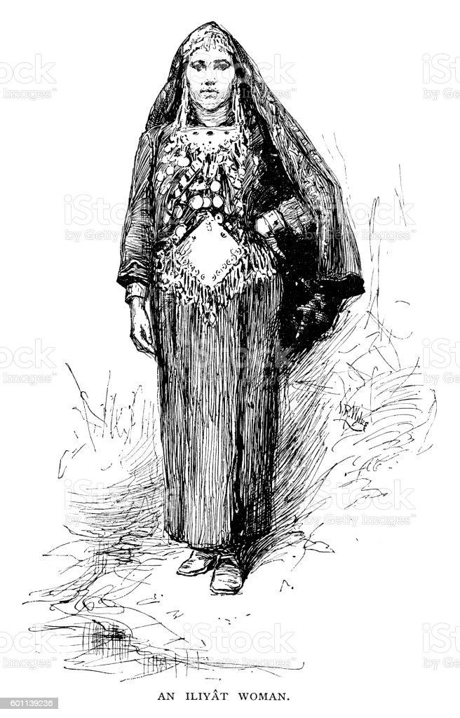 Iliyat Woman vector art illustration