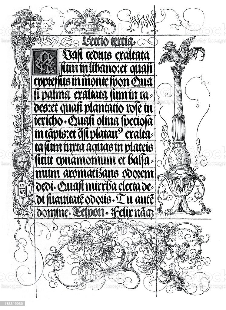 Illuminated Manuscript vector art illustration