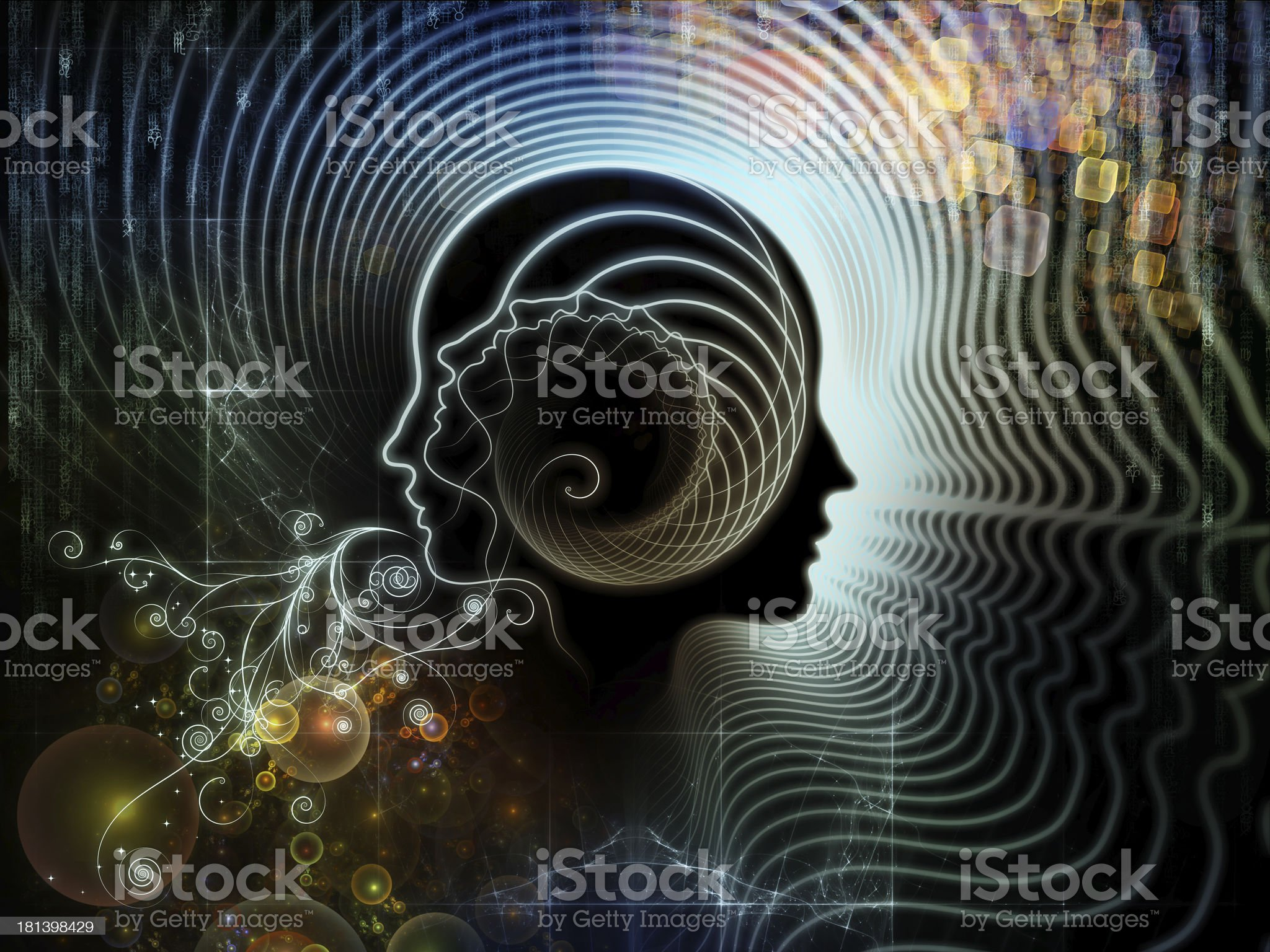 Illusions of Human Mind royalty-free stock vector art