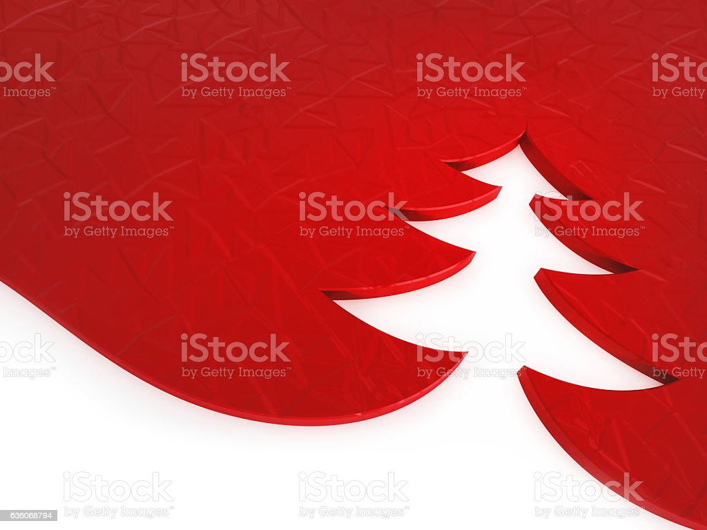 3D illustrated Christmas tree shape background vector art illustration
