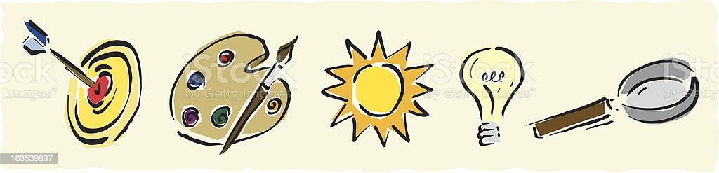 Illustrated icons royalty-free stock vector art