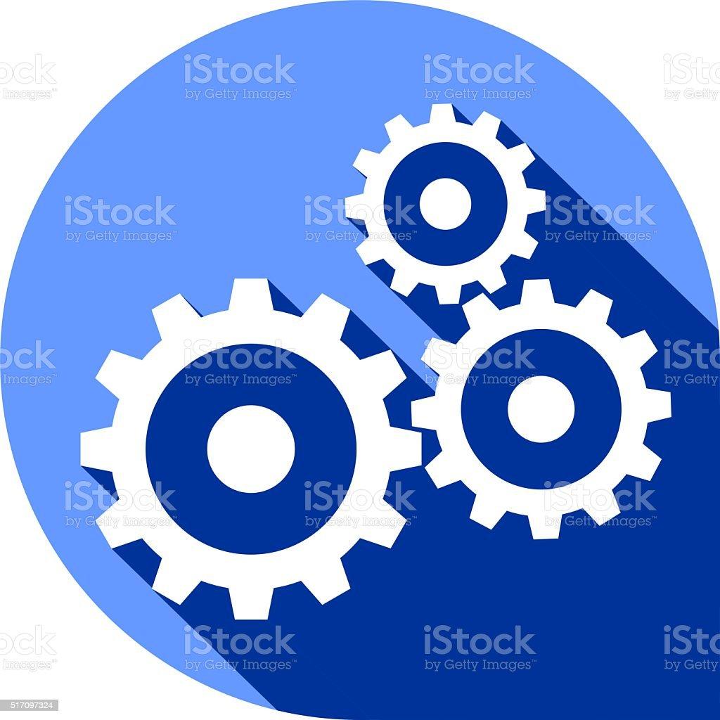 illustration - gears vector art illustration