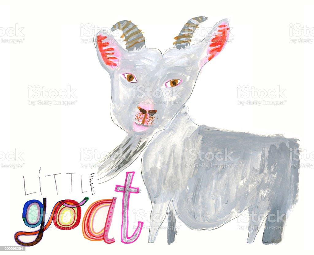 Illustration of a goat vector art illustration