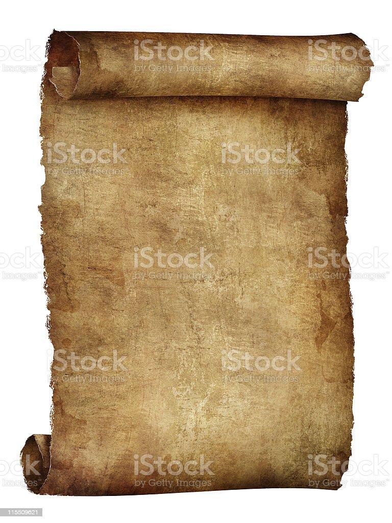 Illustration of an old curled beige paper sheet vector art illustration