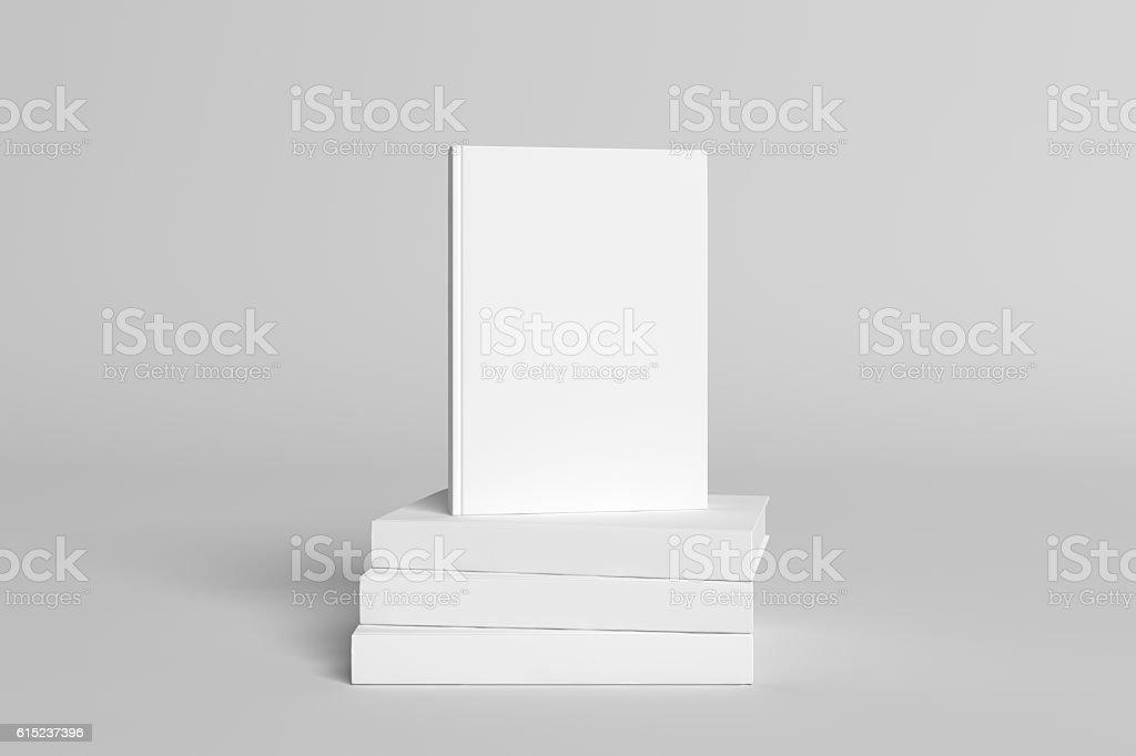 3D Illustration of blank Book Cover Mock-up vector art illustration