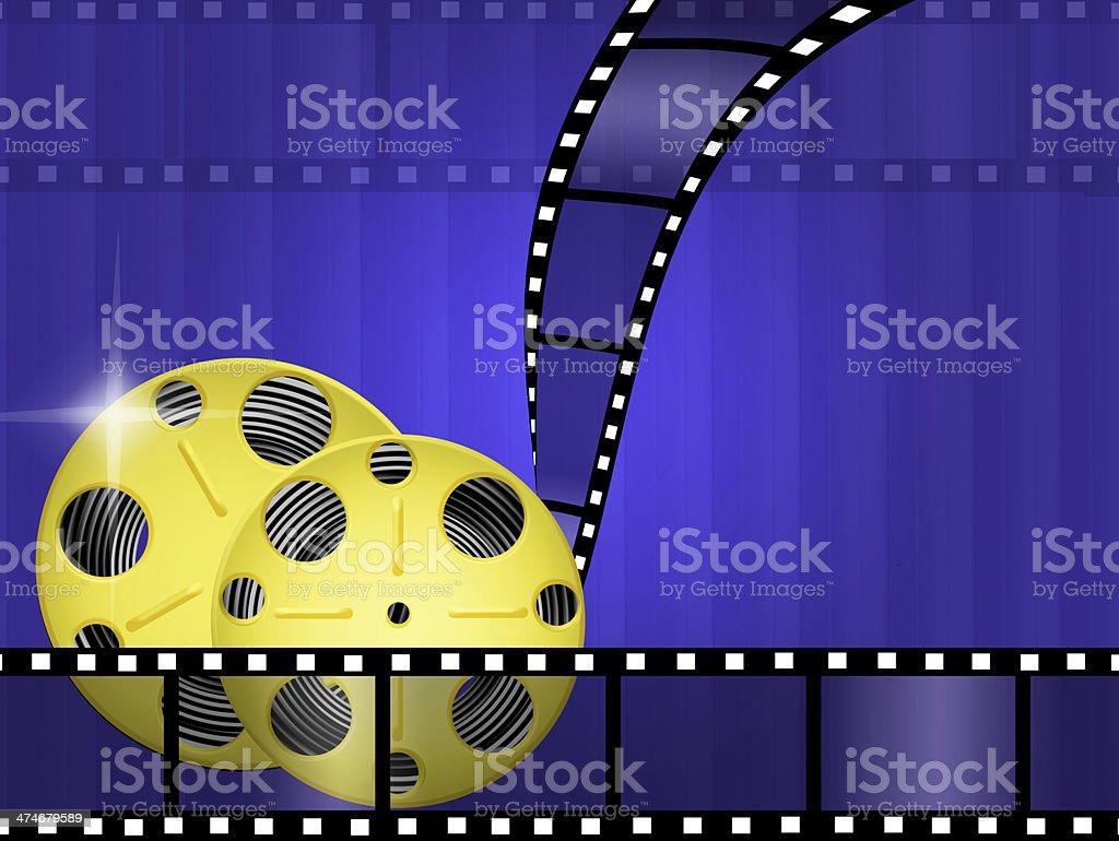 illustration of cinema royalty-free stock vector art