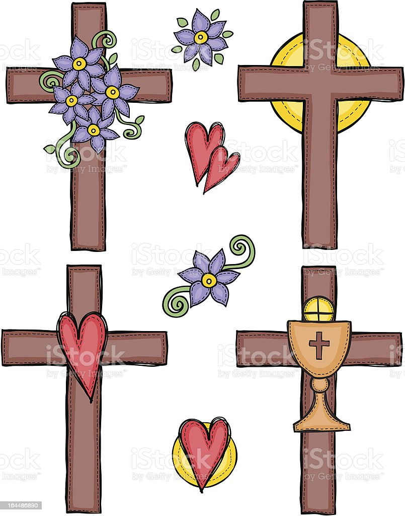 Illustration of crosses royalty-free stock vector art