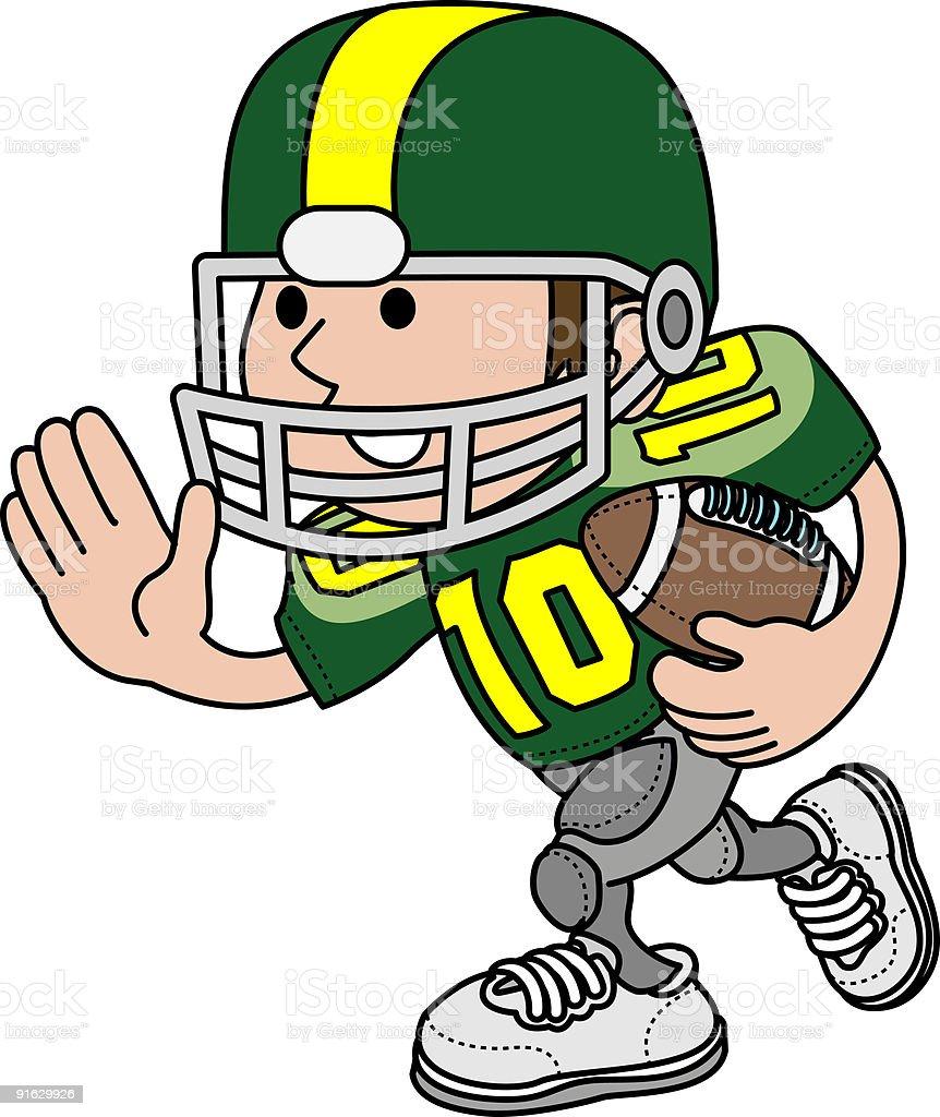 Illustration of football player vector art illustration