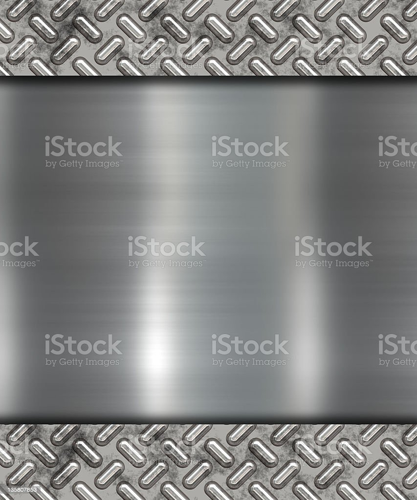 Illustration of gray metal banner royalty-free stock vector art